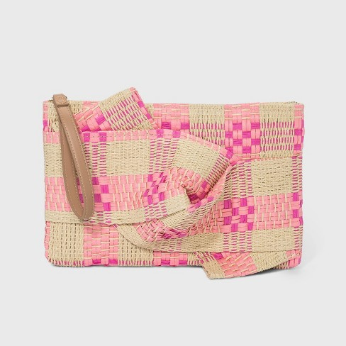 Zip Closure Straw Clutch - A New Day™ - image 1 of 2