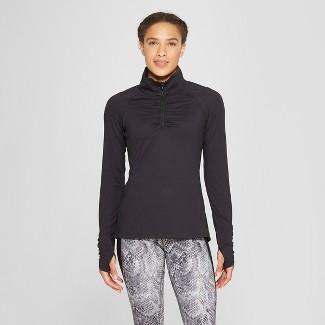 Women's Long Sleeve 1/4 Zip - C9 Champion® Black M