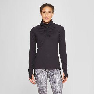 Women's Long Sleeve 1/4 Zip - C9 Champion® Black XL