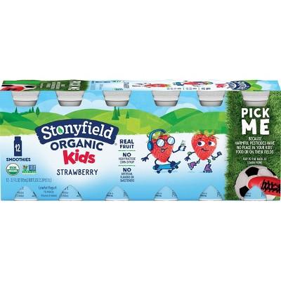 Stonyfield Organic Kids' Strawberry Yogurt Smoothies - 12pk/3.1 fl oz Bottles