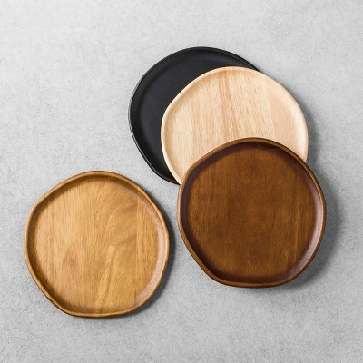 4pk Appetizer Plates Wood - Hearth & Hand™ with Magnolia