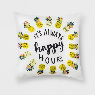Outdoor Throw Pillow - Yellow/Black/Pink - Room Essentials™