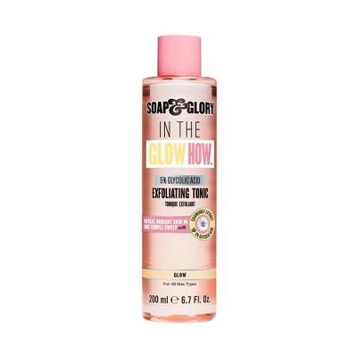 Soap & Glory In the Glow How Vitamin C 5% Glycolic Acid Exfoliating Tonic - 6.7 fl oz