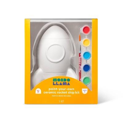 Paint-Your-Own Ceramic Rocket Ship Kit - Mondo Llama™