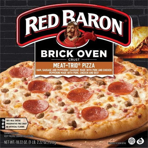 Red Baron Brick Oven Meat Trio Frozen Pizza - 18.22oz - image 1 of 4