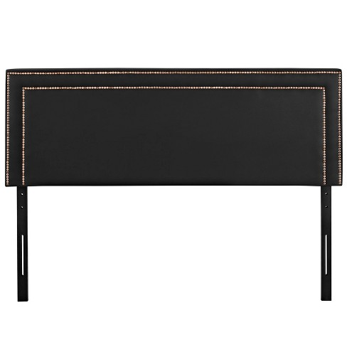 Jessamine Full Upholstered Vinyl Headboard Black - Modway - image 1 of 4