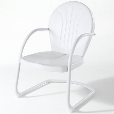 Steel Metal Chair in White-Pemberly Row