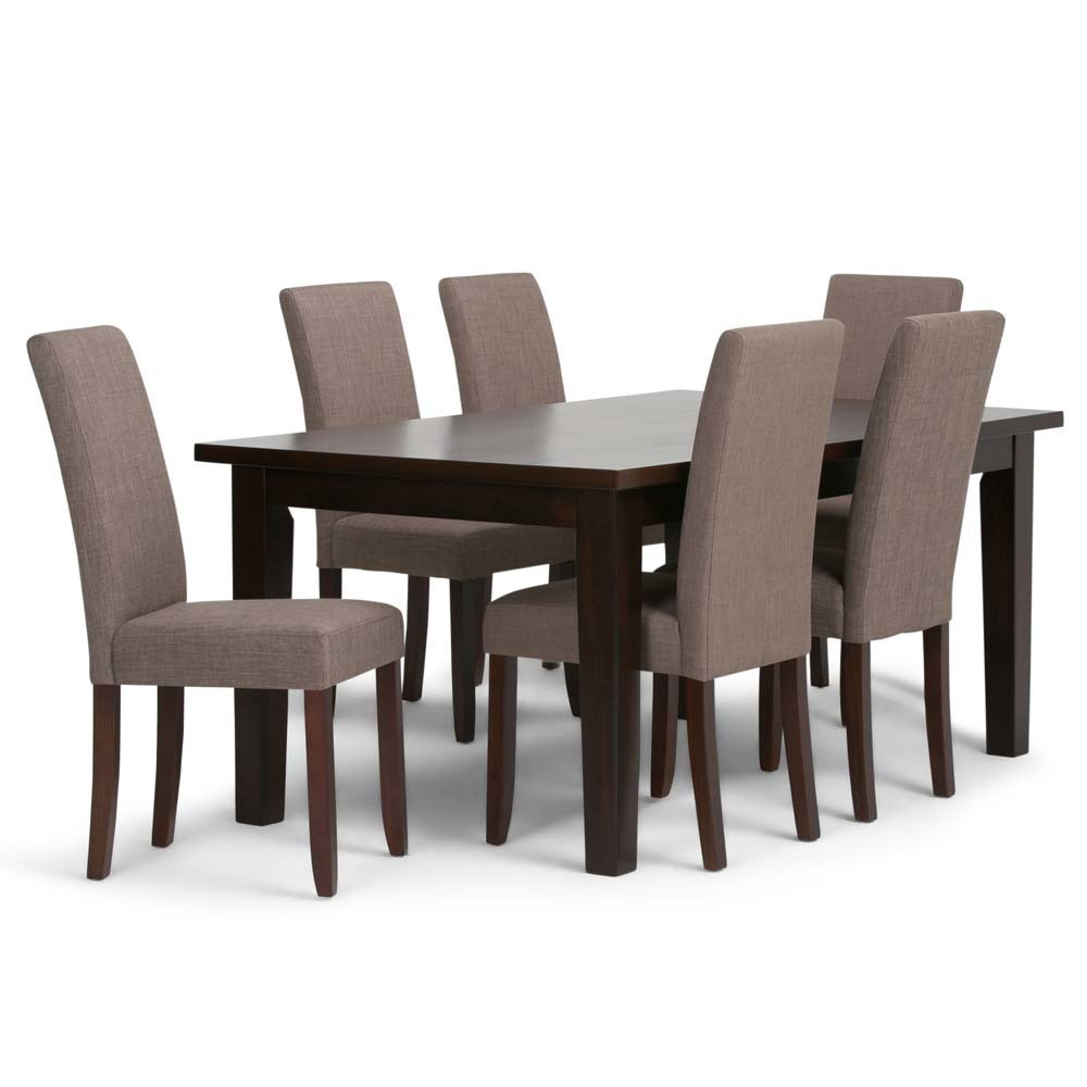 Normandy Solid Hardwood 7pc Dining Set Light Mocha - Wyndenhall
