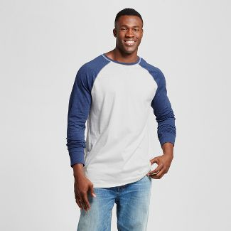 Men's Big & Tall Standard Fit Long Sleeve Baseball T-Shirt - Goodfellow & Co™ Navy 4XB