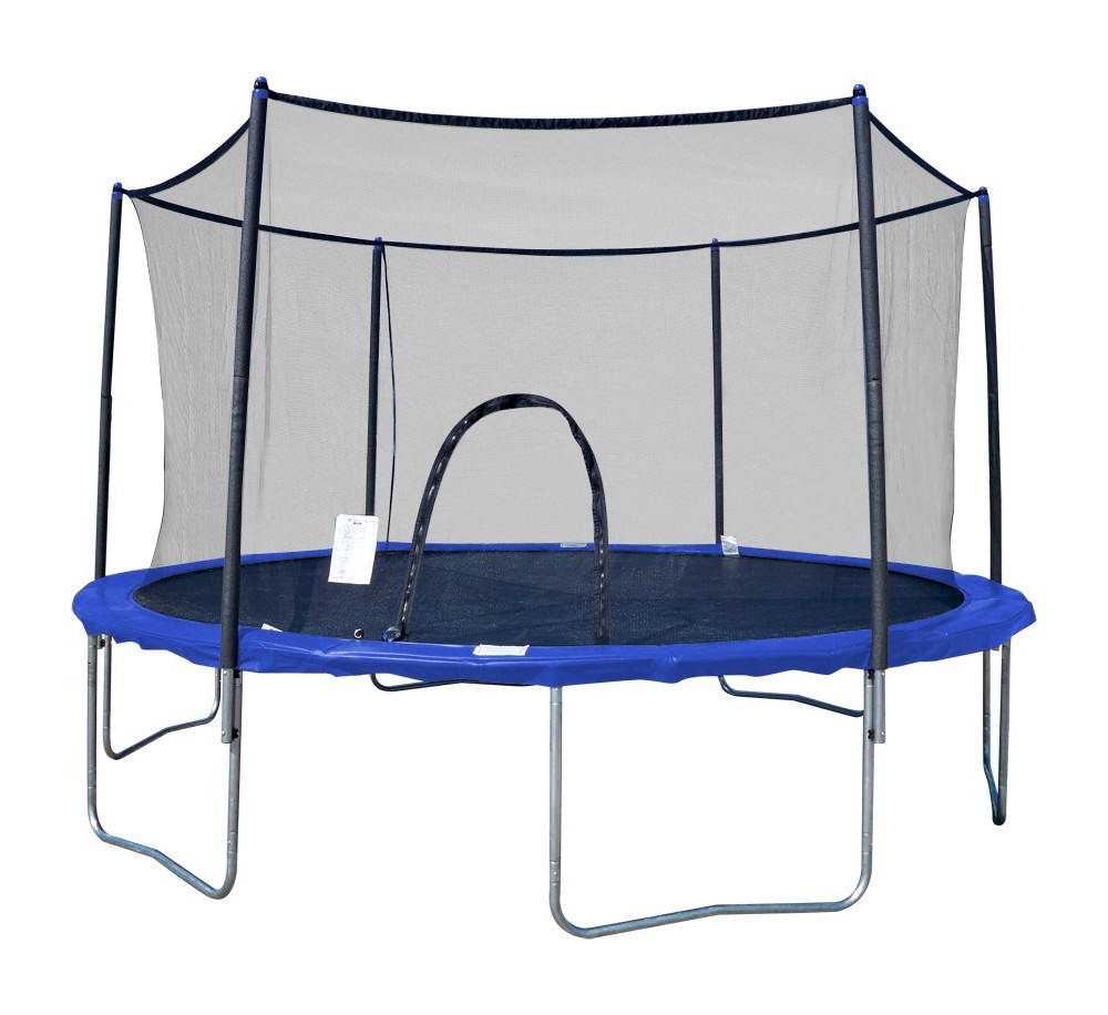 Image of 13' Airzone Trampoline and Enclosure, Blue