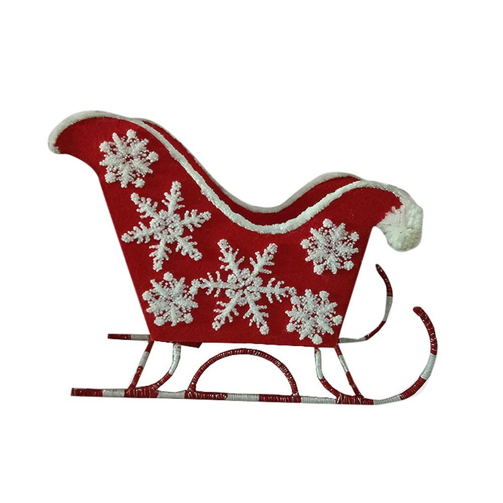 Sleigh Christmas Figurine Red - Wondershop