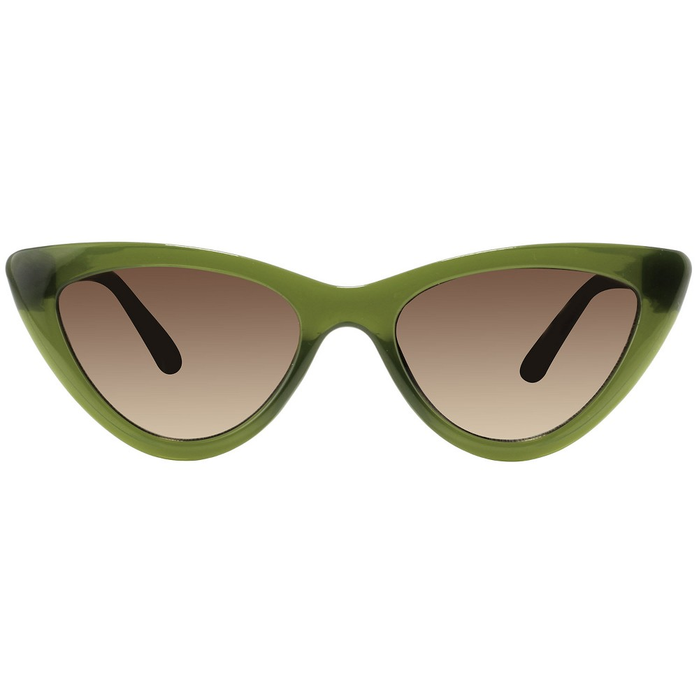 Women's Plastic Cateye Sunglasses - A New Day Green