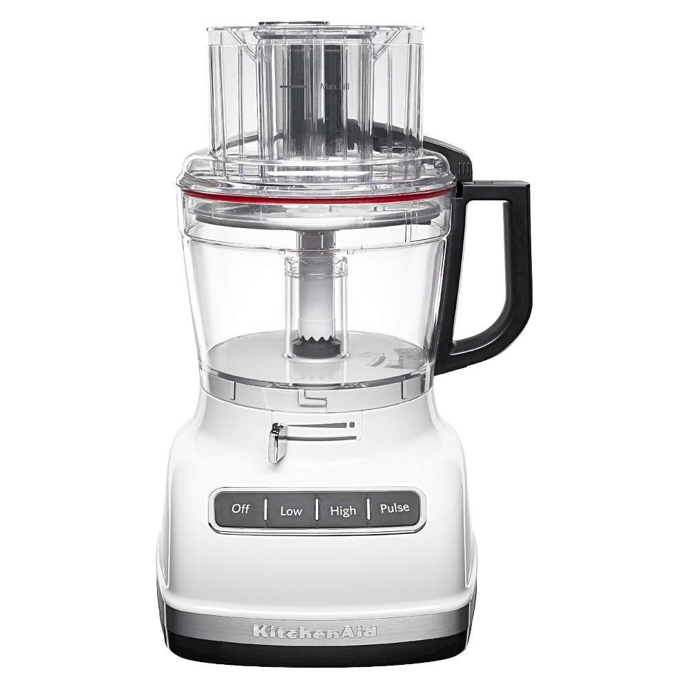 KitchenAid 11 Cup Food Processor with ExactSlice System - KFP1133, White