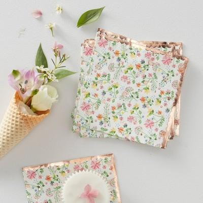 Floral Print Disposable Napkins