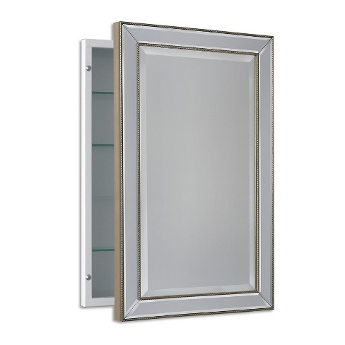"16""x26"" Metro Beaded Recessed Medicine Cabinet - Head West - image 1 of 2"