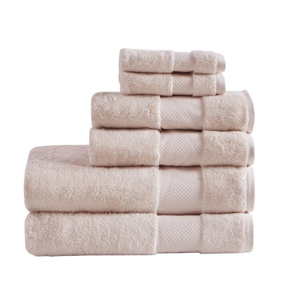 6pc Turkish Bath Towel Set Blush