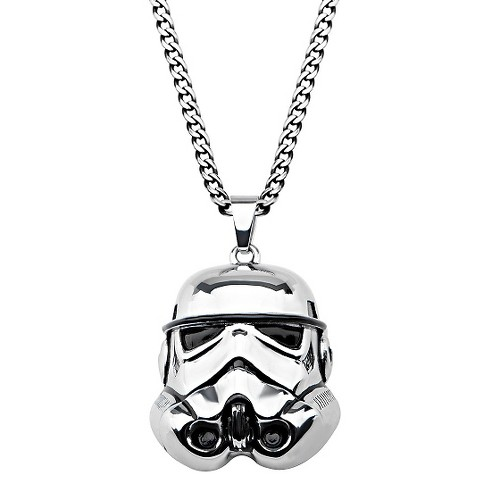 "Men's Star Wars Stormtrooper 3D Stainless Steel Pendant with Chain (22"") - image 1 of 2"