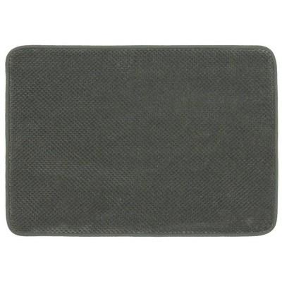 "24""x40"" Bubble Memory Foam Bath Rug Dark Gray - Threshold™"