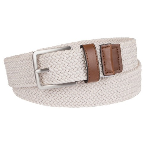 Men's 35mm Stretch Belt With Webbing Cream - Merona™ - image 1 of 1