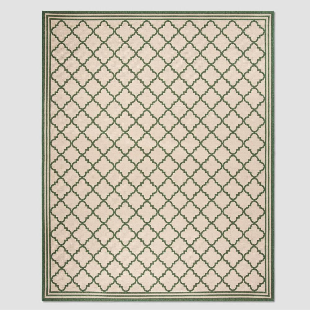8'6 x 12' Dorotha Outdoor Rug Cream/Green - Safavieh, Off-White Green