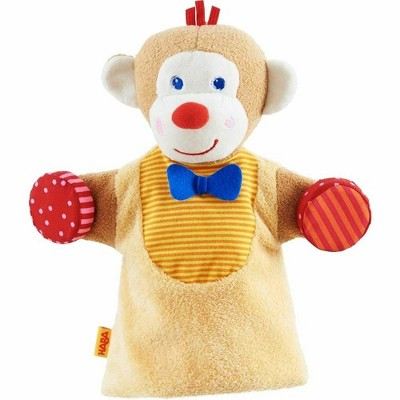 HABA Monkey Musical Glove Puppet with Rattling Cymbals