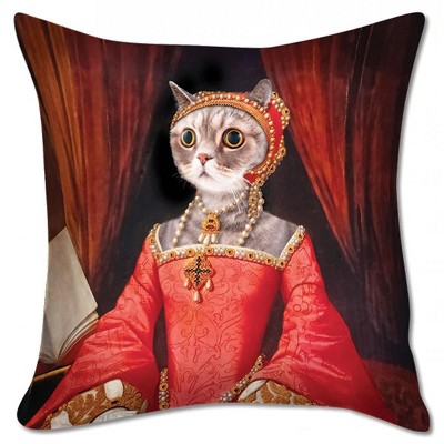 """Accoutrements Renaissance Kitty 18"""" X 18"""" Pillow Cover"""