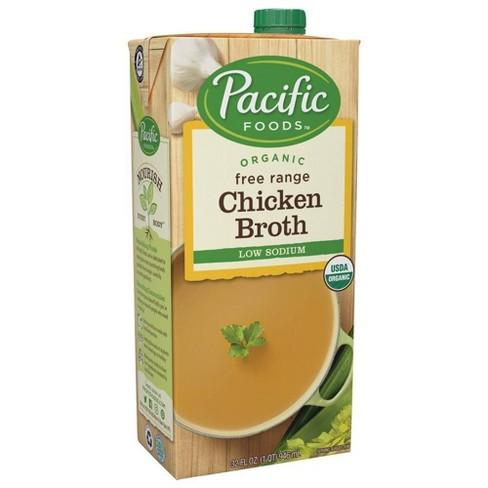 Pacific Foods Organic Low Sodium Chicken Broth - 32oz - image 1 of 4