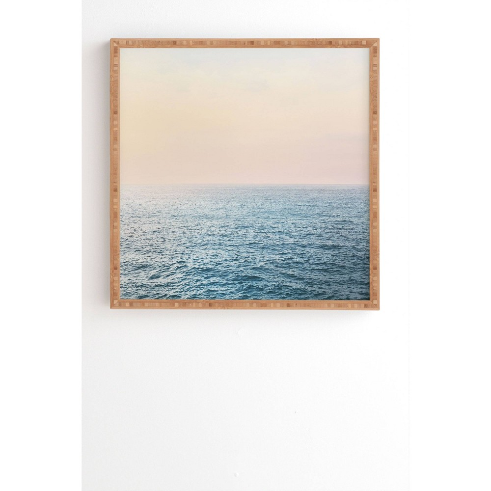 """Image of """"12"""""""" x 12"""""""" Sisi and Seb Peaceful Framed Wall Art Blue - Deny Designs, Size: 12""""""""x12"""""""""""""""