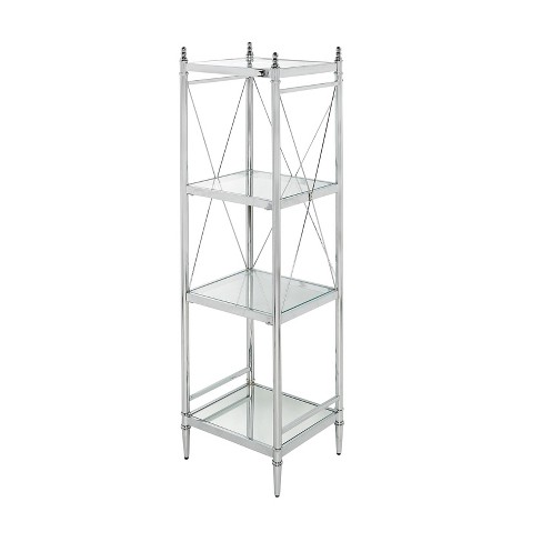 Pinnacle Four Tier Shelf Chrome - Linon - image 1 of 2