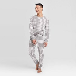 Men's Striped Pajama Set - Gray