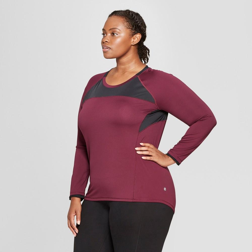 Women's Plus Size Long Sleeve Run T-Shirt - C9 Champion Dark Berry Purple 4X