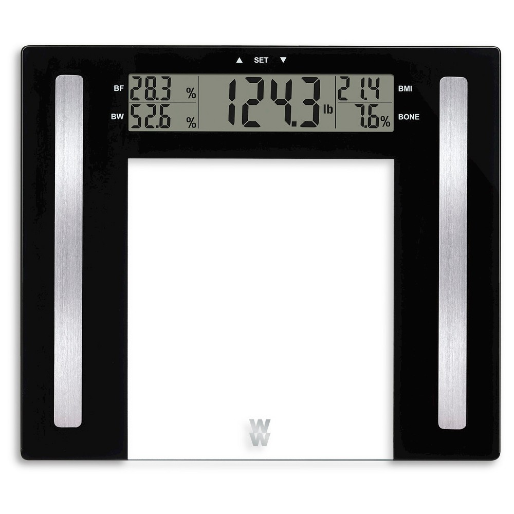 Image of Glass Body Fat Scale Clear - Weight Watchers