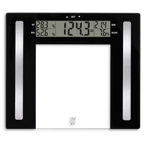 Glass Body Fat Scale Clear Weight Watchers Target