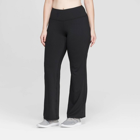 "Women's Plus Size Everyday Mid-Rise Flare Pants 31.5"" - C9 Champion® Black - image 1 of 2"