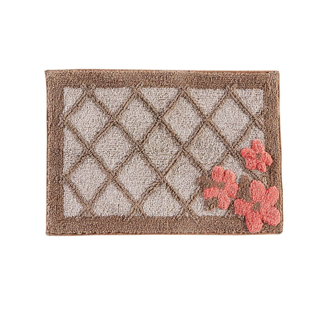 "Image of ""20"""" x 30"""" Coral Gardens bath rugs and mats Tan - Saturday Knight Ltd."""