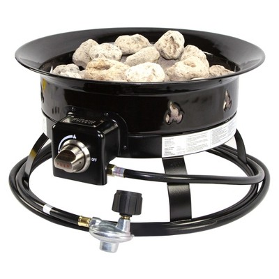 19  Portable Propane Gas Round Outdoor Fire Pit - DestinationGear