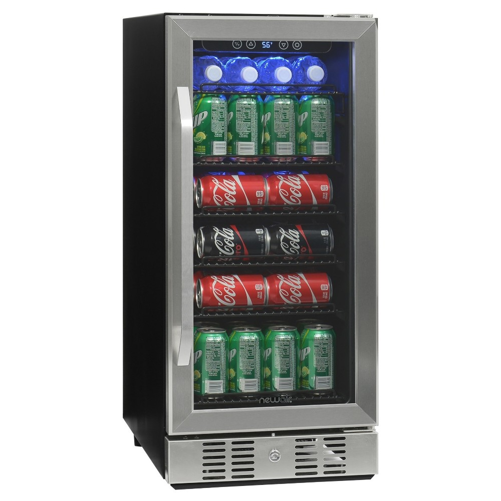 NewAir ABR-960 96 Can Beverage Cooler Stainless Steel, Silver