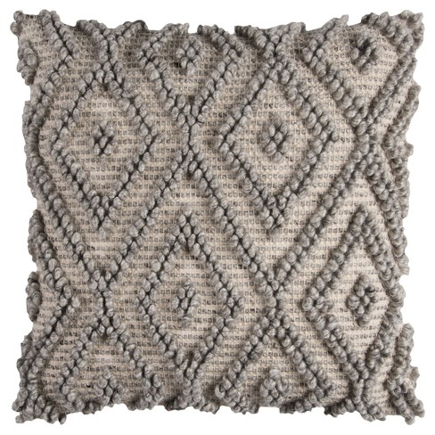 """20""""x20"""" Geometric Throw Pillow Natural/Gray - Rizzy Home - image 1 of 2"""