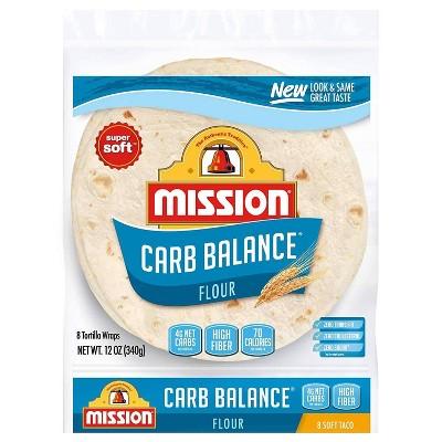 Mission Carb Balance Taco Size Soft flour Tortillas - 12oz/8ct