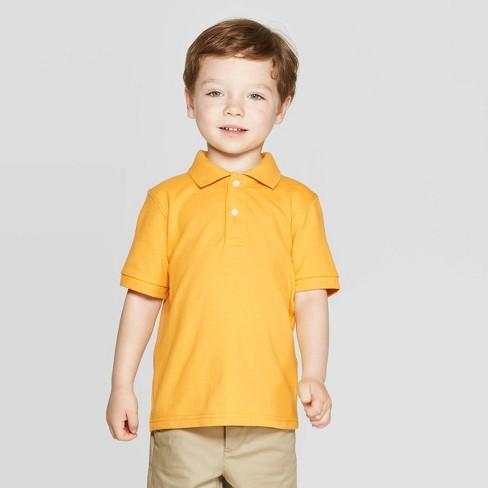 8e86f1e24 Toddler Boys' Short Sleeve Pique Uniform Polo Shirt - Cat & Jack™ Gold 3T :  Target
