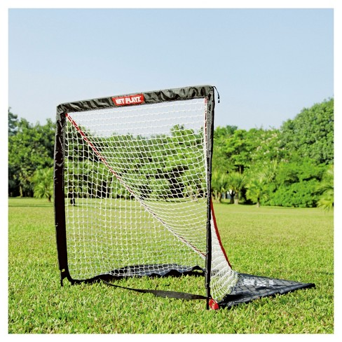 Net Playz 4' x 4' Portable LaCrosse Goal with Carry Bag - image 1 of 4