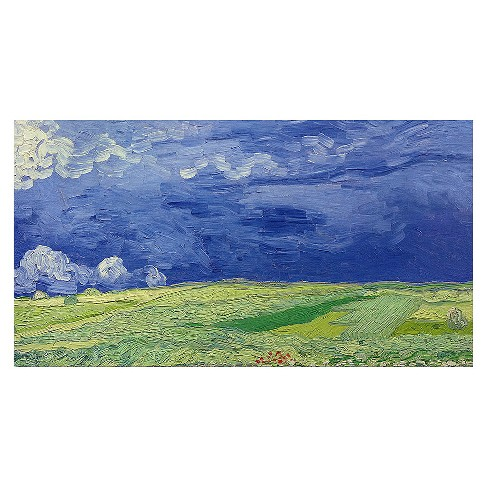 Wheatfields under Thundercloud\' by Vincent Van Gogh Ready to Hang ...