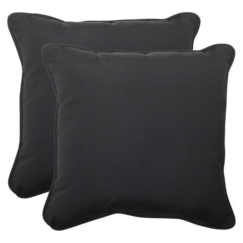 Sunbrella® Canvas Outdoor 2-Piece Square Throw Pillow Set - image 1 of 1