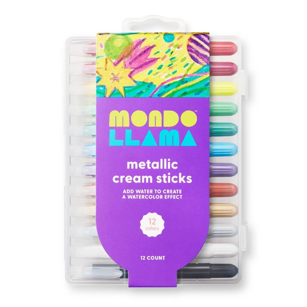 12ct Metallic Cream Sticks Mondo Llama 8482