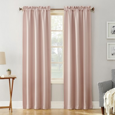 "84""x40"" Kenneth Blackout Rod Pocket Curtain Panel Blush - Sun Zero"