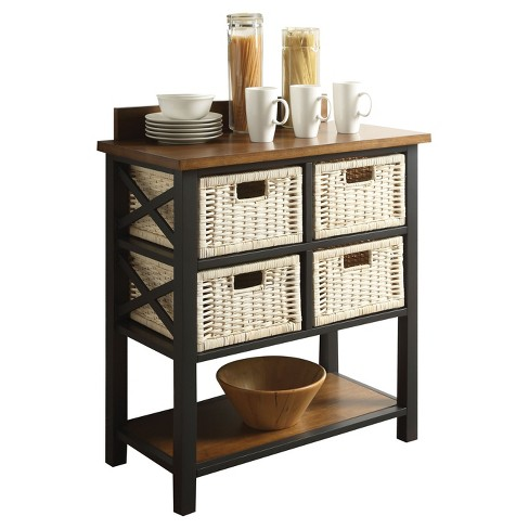 Console Table Black Oak - image 1 of 2