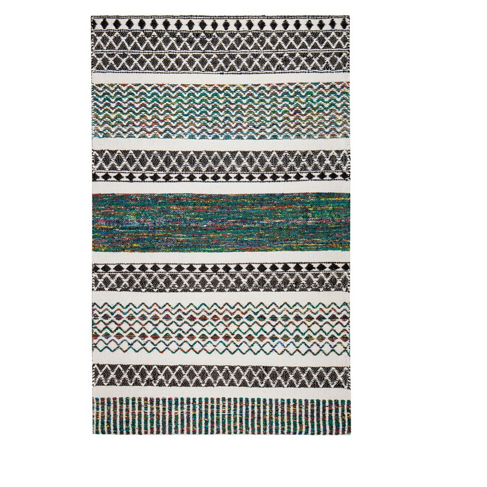 Shapes Woven Runner 2'X8' - Anji Mountain, Multicolored