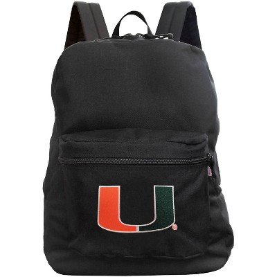 NCAA Miami Hurricanes Black Premium Backpack
