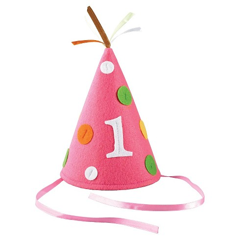 Babys First Birthday Pink Party Hat
