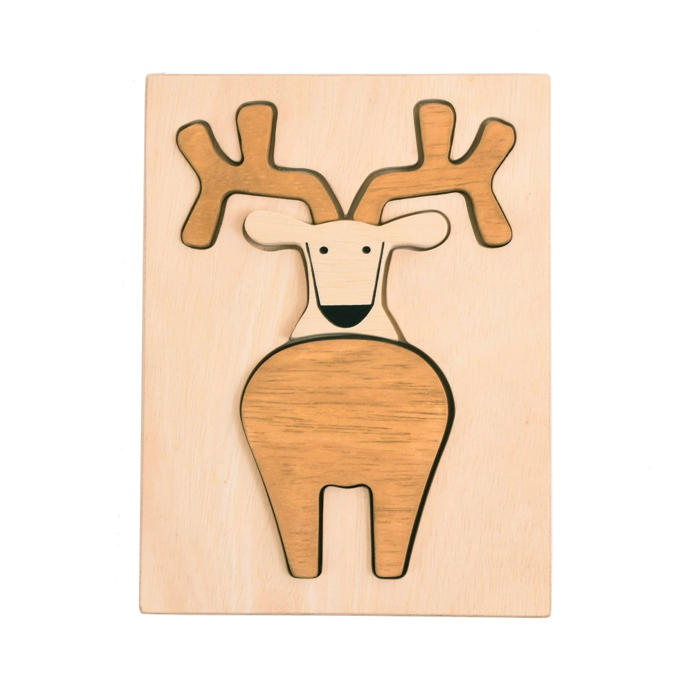Image of Manhattan Toy Wood Puzzle Deer
